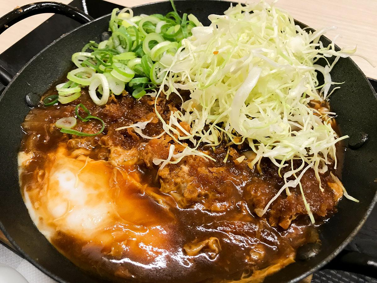 『青ねぎ味噌カツ鍋定食』