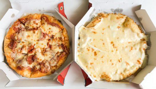 【盛りすぎ】ドミノ・ピザの『ウルトラ盛』食べてみた。 チーズやペパロニなどのトッピングが4倍!