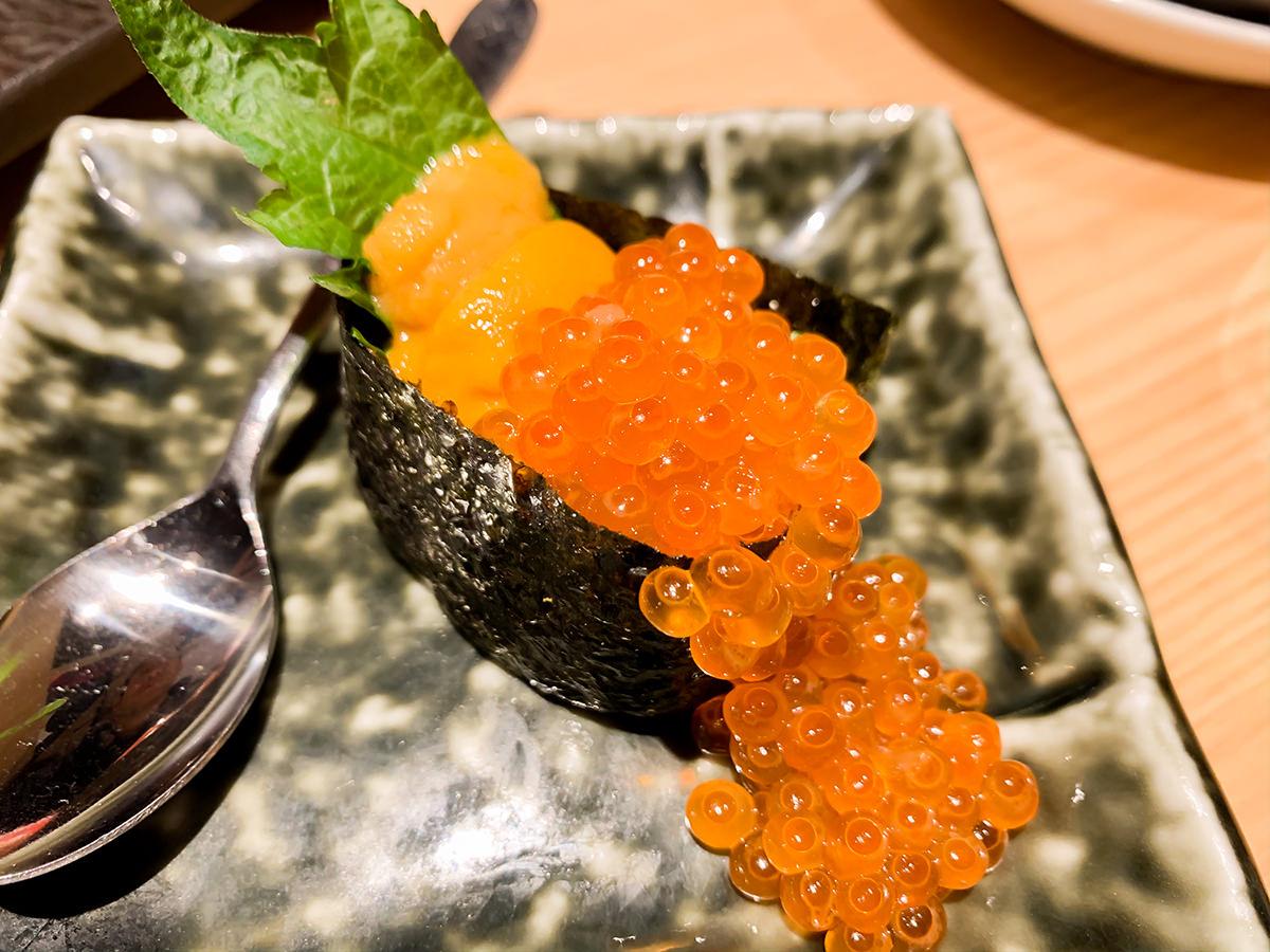 スシローの寿司 居酒屋『杉玉』雲丹といくらのこぼれ軍艦