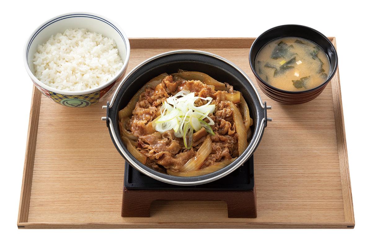 吉野家『牛の鍋焼き定食』