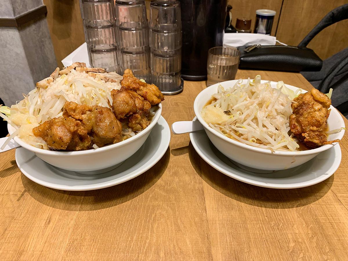 麺屋こいけ『鶏二郎 MAX』『鶏二郎』比較