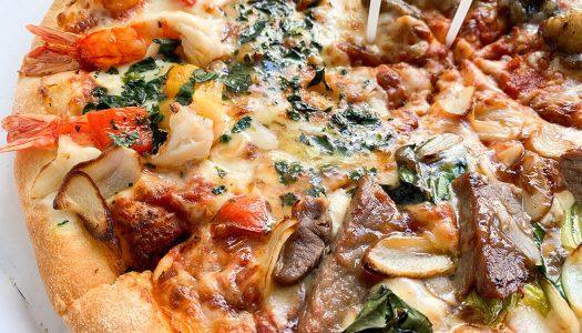 【豪華】ドミノ・ピザの『スーパースター』食べてみた! 具材は黒毛和牛、サーロインステーキ、ブラックタイガー・・・
