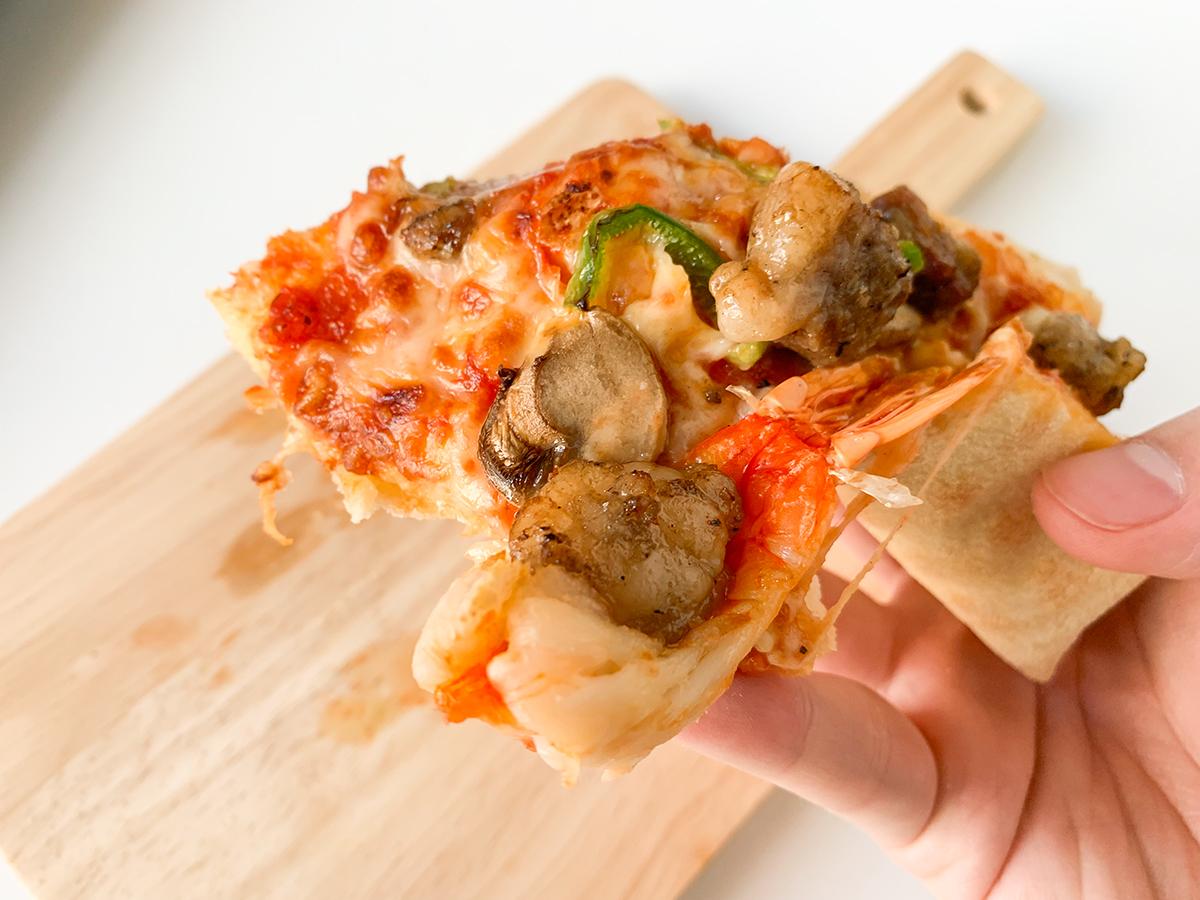 ドミノ・ピザ(スーパースター)「ブラックタイガー&炭火焼ビーフ」