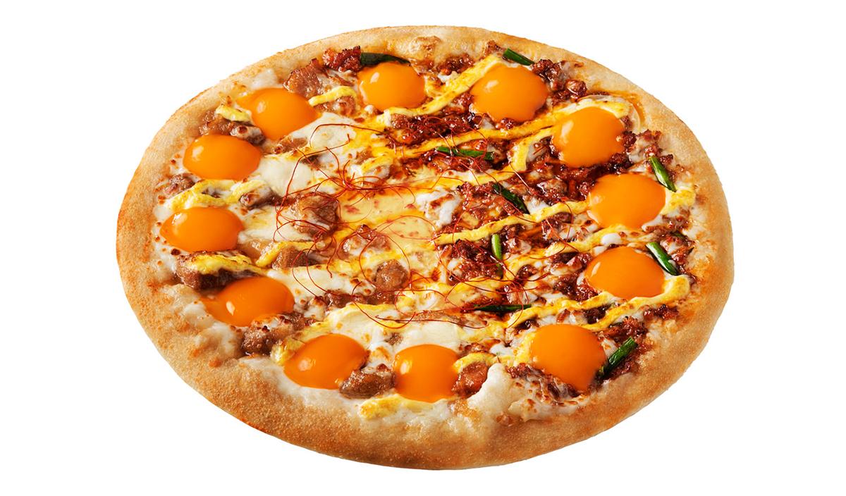 【月見ピザ】ピザハット『プルとろ月見ピザ』