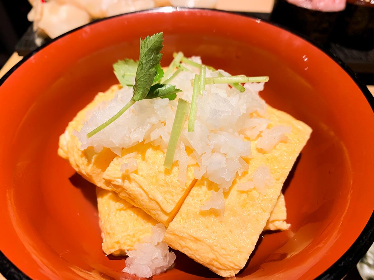 スシローの寿司 居酒屋『杉玉』出汁巻き卵(鬼おろし)