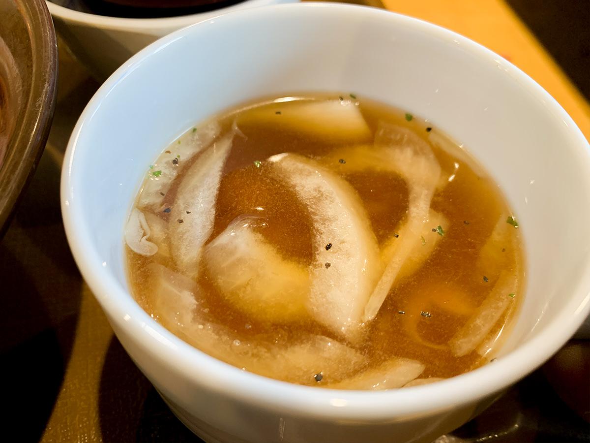 すき家『ニューヨークポーク丼』オニオンスープ